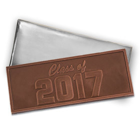 Embossed Class of 2017 Milk Chocolate Bar (12 Pack)