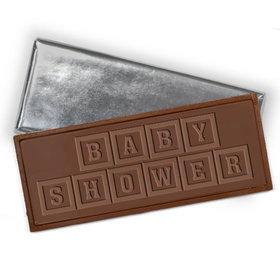 Embossed Baby Shower Belgian Milk Chocolate Bar (12 Pack)