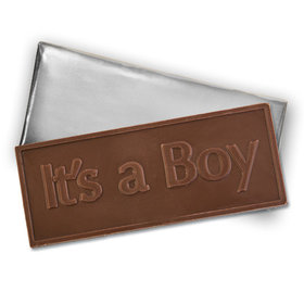 Embossed It's A Boy Belgian Milk Chocolate Bar (12 Pack)