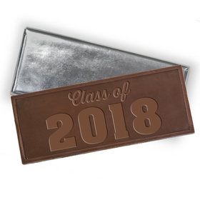 Embossed Class of 2018 Belgian Milk Chocolate Bar (12 Pack)