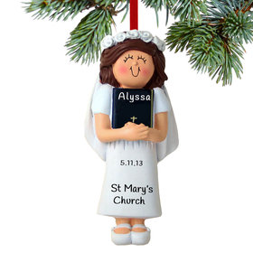 First Communion with Bible Girl Ornament
