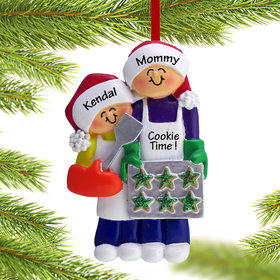 Baking Cookies with Grandma or Mom (1 Child) Ornament