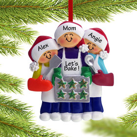 Baking Cookies with Grandma or Mom (2 Children) Ornament