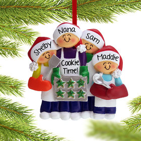 Baking Cookies with Grandma or Mom (3 Children) Ornament