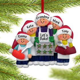 Baking Cookies with Grandma or Mom (4 Children) Ornament