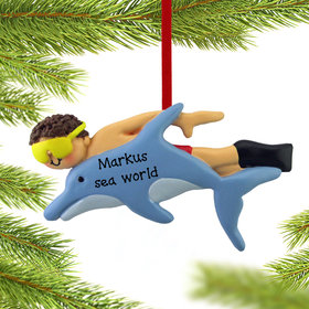 Swimming with the Dolphins Male Ornament