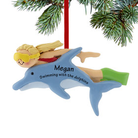 Swimming with the Dolphins Female Ornament