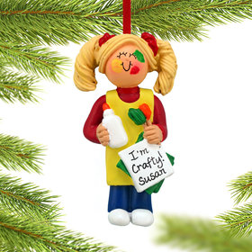 Arts and Crafts Project Girl Ornament