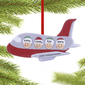 Airplane Family of 4 Ornament