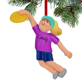 Ultimate Frisbee Girl Ornament