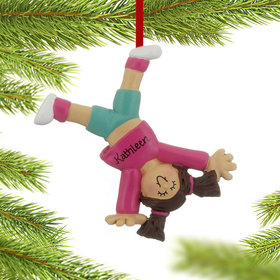 Tumbling or Cartwheel Girl Ornament