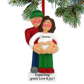 Pregnancy Couple with Heart Ornament
