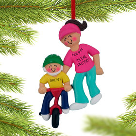 Learning To Ride A Bike (Adult Female) Ornament