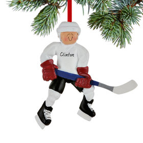 Hockey Player Ready To Score Ornament