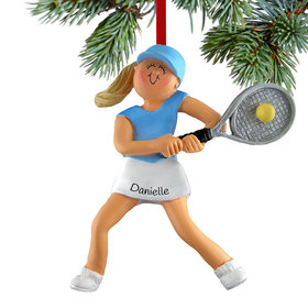 Tennis Player Girl Ornament