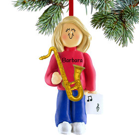 Saxophone Player Female Ornament