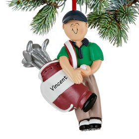 Golfer Male Ornament