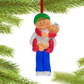 Big Brother Holding Baby Ornament