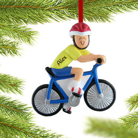 Bicycle Rider Male Ornament