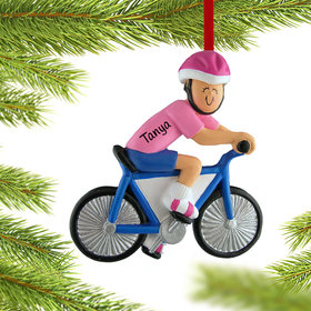 Bicycle Rider Female Ornament