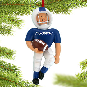 Football Player (Blue) Ornament