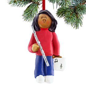 Flute Player Female Ornament