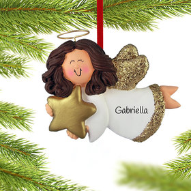 Angel with Gold Star (Girl) Ornament