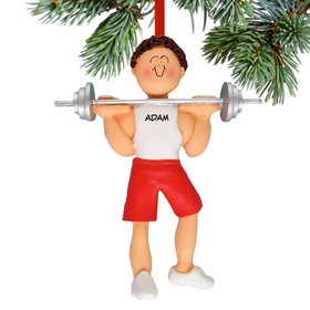 Weightlifter Male Ornament