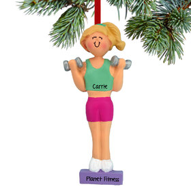 Weightlifter Female Ornament