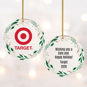 Add Your Logo Wreath Ornament