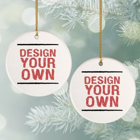 Personalized Design Your Own Christmas Ornament
