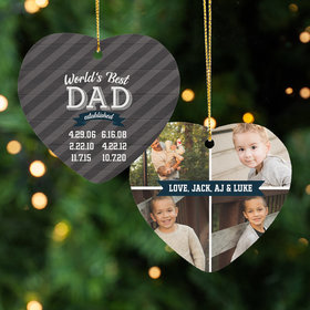 World's Best Dad Ornament