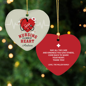 Nursing is a work of Heart Ornament
