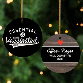 Personalized Essential and Vaccinated Ornament