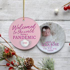 Personalized Pandemic Baby Girl Ornament