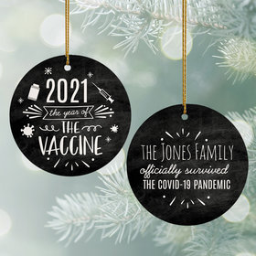 Personalized The Year of the Vaccine Ornament