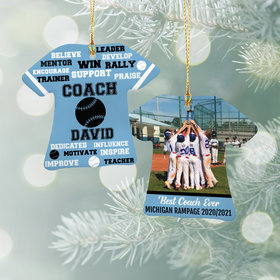 Best Coach Baseball with Image - Purple Ornament
