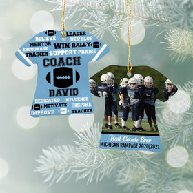 Best Coach Football with Image - Purple Ornament