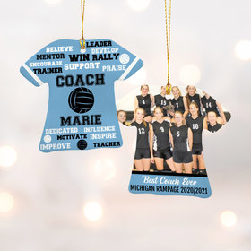 Best Coach Volleyball with Image - Purple Ornament