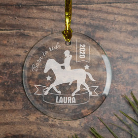 Horseback Riding (Etched) Ornament