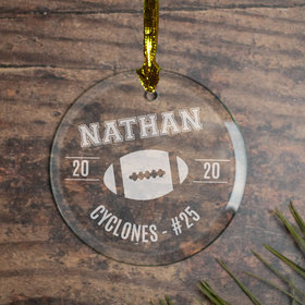Football (Etched) Ornament