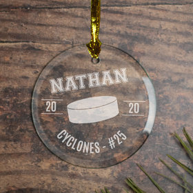 Hockey (Etched) Ornament