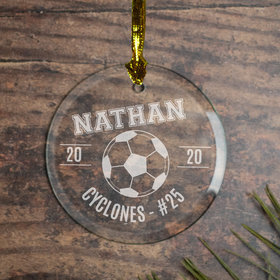 Soccer (Etched) Ornament