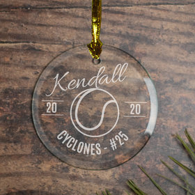 Tennis (Etched) Ornament
