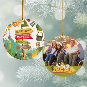 Happy Campers Photo Ornament