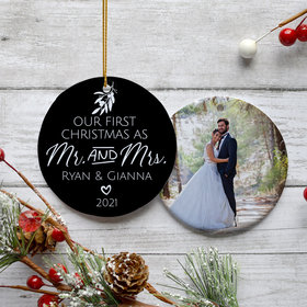 Personalized First Christmas as Mr. & Mrs. Ornament