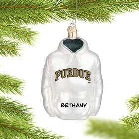 Purdue University Hoodie Sweatshirt Ornament