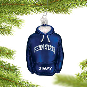 Pennsylvania State University Hoodie Sweatshirt Ornament