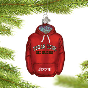 Texas Tech University Hoodie Sweatshirt Ornament