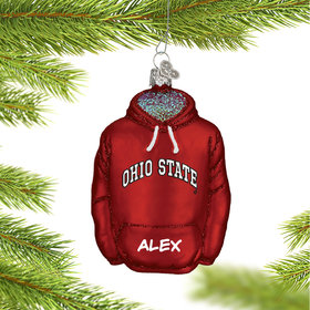 Ohio State University Hoodie Sweatshirt Ornament
